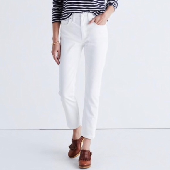 Madewell Denim - MADEWELL - Straight Cropped White Jeans - Size 32